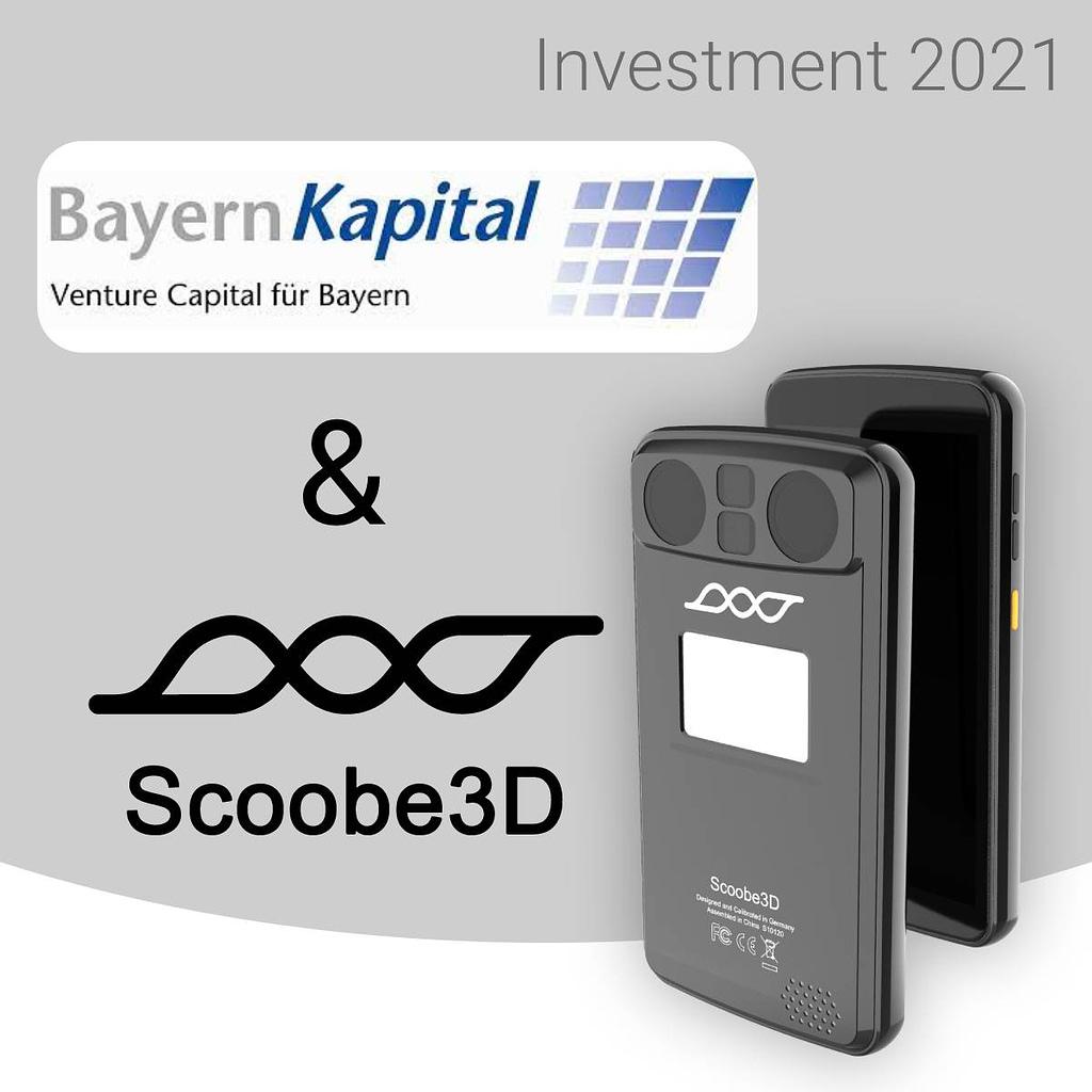 Symbolbild für erneutes Investment in Scoobe3D von Bayern Kapital und Business Angels im mittleren sechsstelligen Bereich im August 2021