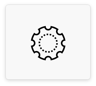 Zahnrad Symbol für Bereich Maschinenbau