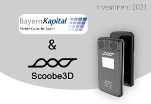 Titelbild für erneutes Investment in Scoobe3D von Bayern Kapital und Business Angels im mittleren sechsstelligen Bereich im August 2021
