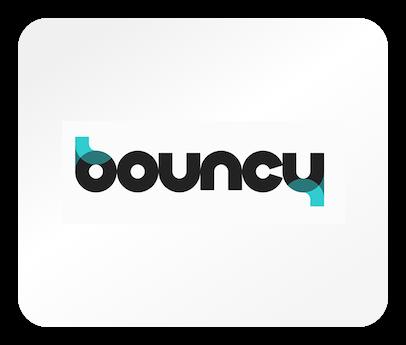 Das Logo von Bouncy