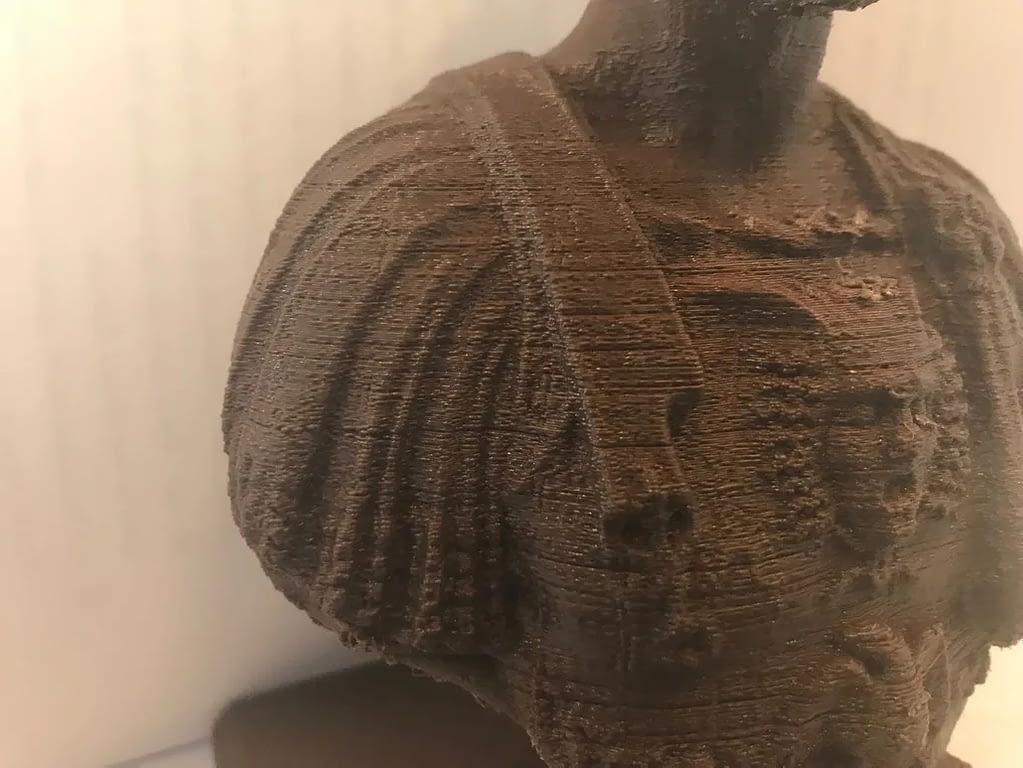 Ein mit einem 3D Drucker erstellte Figur von Julius Cäsar