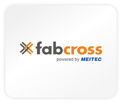 Das Logo von Fabcross - powered by Meitec