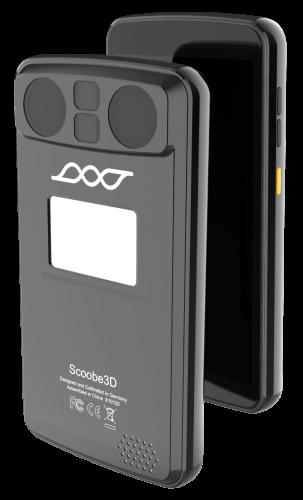 Vorder- und Rückseite des Scoobe3D High-Precision Industrie 3D Scanner mobile Ansicht