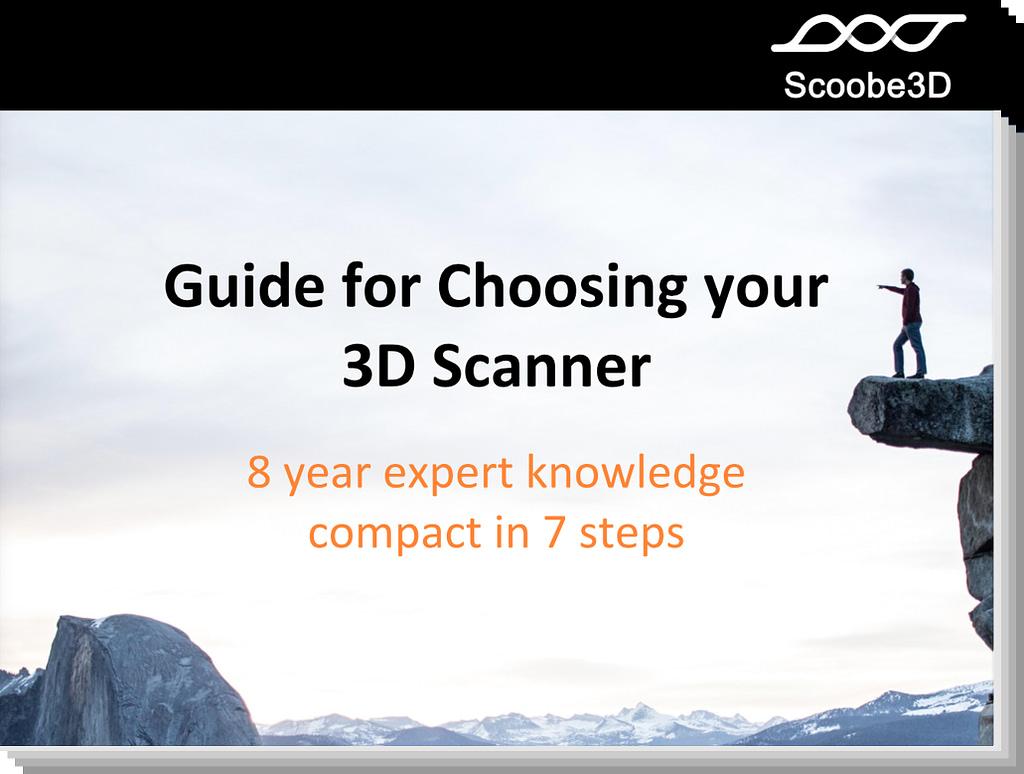 Das Titelbild für unseren Guide zur 3D Scanner Wahl.