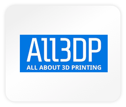 Das Logo des Magazins all3dp