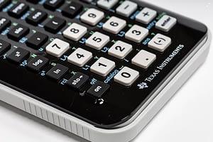 Das Nummernfeld eines Taschenrechners