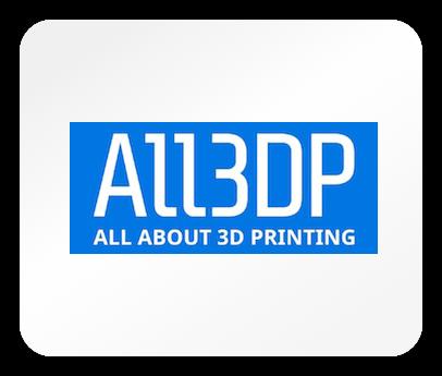 Das Logo des Magazins all3dp